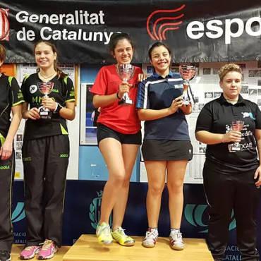 Segon i Tercer lloc al campionat absolut <br/>femení B per parelles 20/12/2015